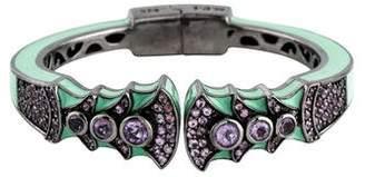 MCL by Matthew Campbell Laurenza Amethyst & Pink Sapphire Enamel Bracelet