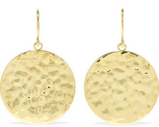 Jennifer Meyer Small Hammered 18-karat Gold Earrings
