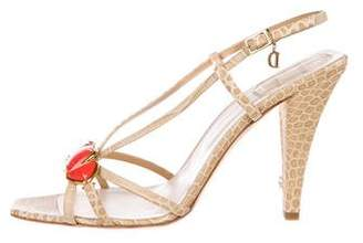 Christian Dior Piedra Leather Sandals