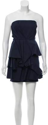 Alice + Olivia Pleated Strapless Dress