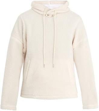 Helmut Lang Hooded faux-shearling sweatshirt