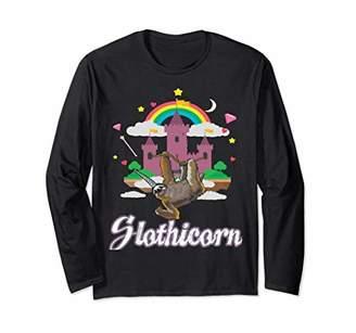 Slothicorn - Sloth with Unicorn Horn Long Sleeve Shirt