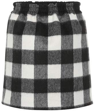 N°21 Checked wool-blend miniskirt