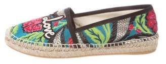 Gucci Blind for Love Espadrille Flats Green Blind for Love Espadrille Flats