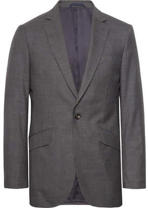 Hackett Dark-Grey Slim-Fit Puppytooth Wool Suit Jacket