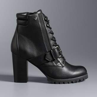 Vera Wang Simply Vera Pintail Women's High Heel Ankle Boots
