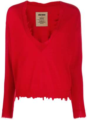 UMA WANG distressed cashmere jumper