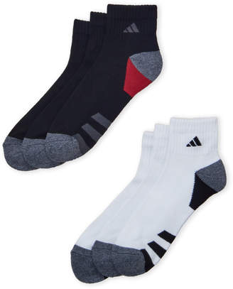 adidas 6-Pack Cushioned Quarter-Cut Socks