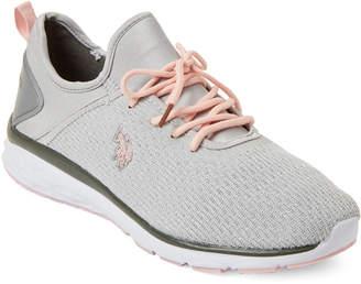 U.S. Polo Assn. Light Grey & Blush Hadley Low-Top Sneakers