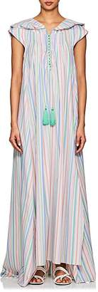 Thierry Colson Women's Eden Striped Cotton Poplin Hooded Caftan