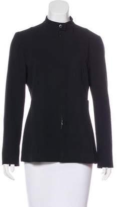 Armani Collezioni High-Neck Wool-Blend Jacket