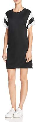 Rag & Bone Striped-Sleeve Tee Dress