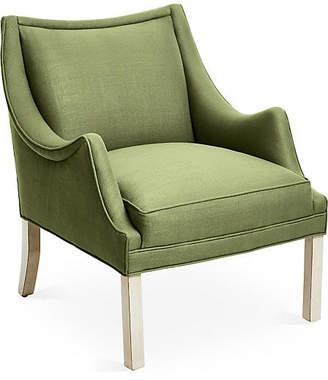 Bunny Williams Home Koko Accent Chair - Green Linen