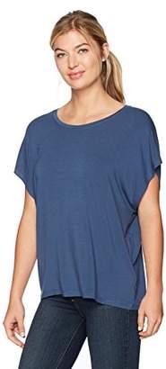 Majestic Filatures Women's Viscose/Elastane Oversized Short Sleeve Scoop