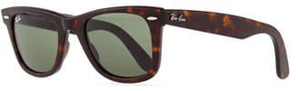 Ray-Ban Classic Wayfarer Sunglasses, Tortoise/Green Lens