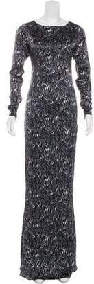 Thomas Wylde Silk Maxi Dress