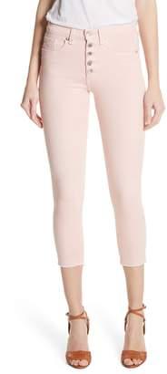 Veronica Beard Debbie Frayed Crop Skinny Jeans