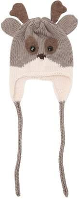 Reindeer Merino Wool Knit Hat
