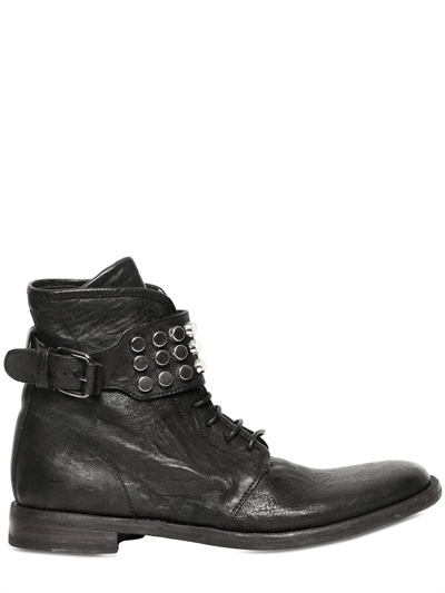 Bruno Bordese 25mm Studded Leather Belted Low