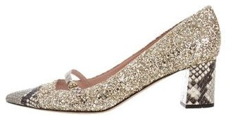 Kate Spade Glitter Pointed-Toe Pumps