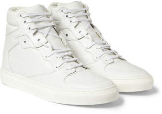 Balenciaga Embossed Leather High Top Sneakers