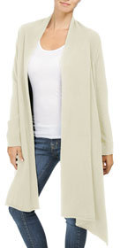 Cashmere Blend Long Sleeve Cardigan