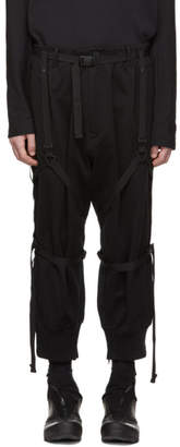 Y-3 Black Parachute Cropped Lounge Pants