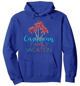 Caribbean Family Vacation Hoodie - Coral Palm Trees Hoodie