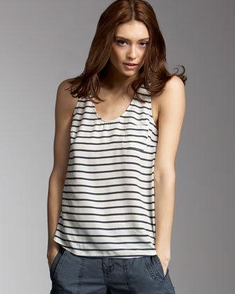 Joie Drew Striped Silk Tank