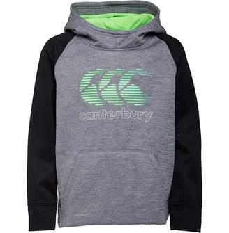 Canterbury of New Zealand Junior Boys Vaposhield Fleece Hoodie Static Marl