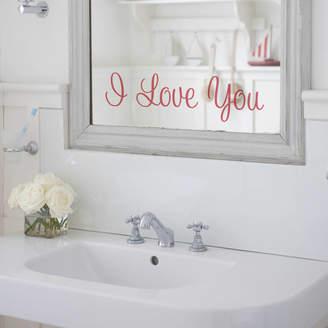 Nutmeg 'I Love You' Mirror Sticker