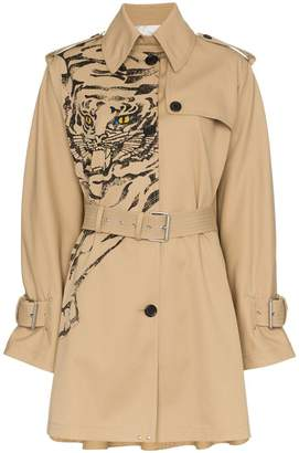 Valentino tiger print trench coat
