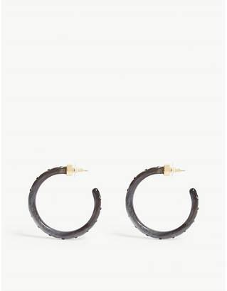 BaubleBar Teryn resin hoop earrings