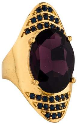 Alexis Bittar Crystal Spike Cocktail Ring