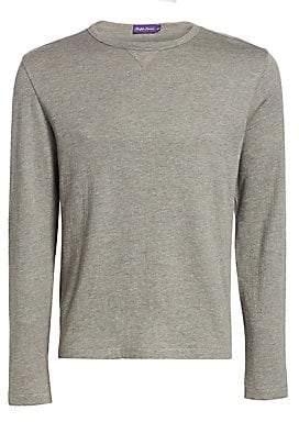 Ralph Lauren Purple Label Men's Long-Sleeve Wool-Blend Shirt
