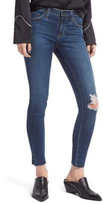 AG Jeans The Legging Ripped Ankle Skinny Jeans (4 Years Lucid Quartz)