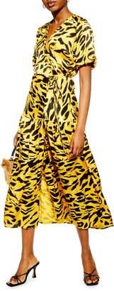 Topshop Jacquard Wrap Dress