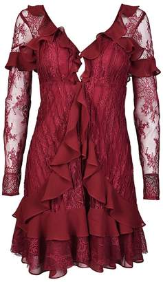 For Love & Lemons Daphne Laced Mini Dress