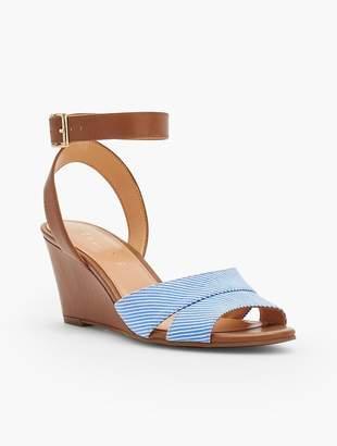 Talbots Vivian Wedge Sandals - Cotton