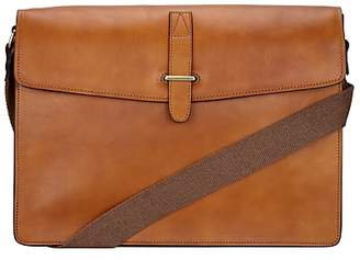 John Lewis & Partners Made in Italy Leather Messenger Bag