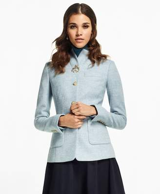 Brooks Brothers Petite Herringbone Wool Jacket