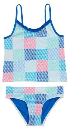 Vineyard Vines Patchwork Whale Two-Piece Tankini Swimsuit