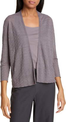 Eileen Fisher Cotton Blend Short Cardigan