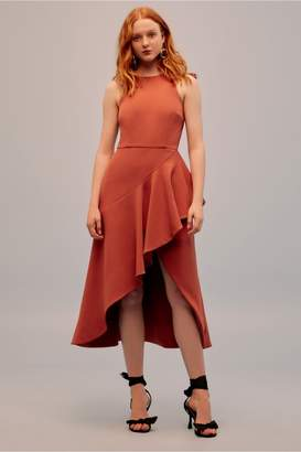 Keepsake INTRIGUE MIDI DRESS burnt orange