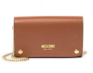 Moschino Leather Crossbody Clutch