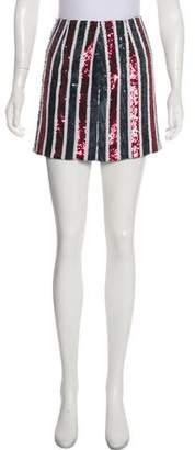 Giamba Sequined Mini Skirt