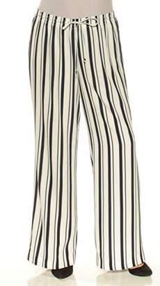 Calvin Klein Women's Striped Wide Leg Pant