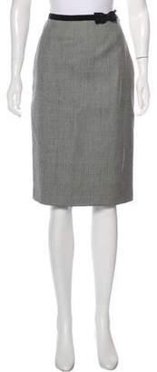 Prada Wool Plaid Skirt