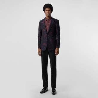 Burberry Slim Fit Silk Wool Matelassé Evening Jacket