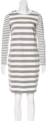 Max Mara Striped Long Sleeve Dress